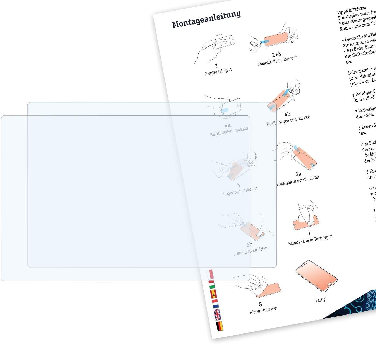 Bruni Schutzfolie kompatibel mit Panasonic Lumix DC-GX800 Folie 2X glasklare Displayschutzfolie