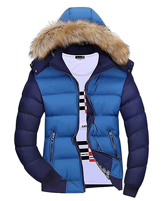 pretty nice 6e31c 877b2 PengGeng Giacconi Invernali Uomo Giaccone con Cappuccio Caldo Giacche Slim  Fit Cappotto