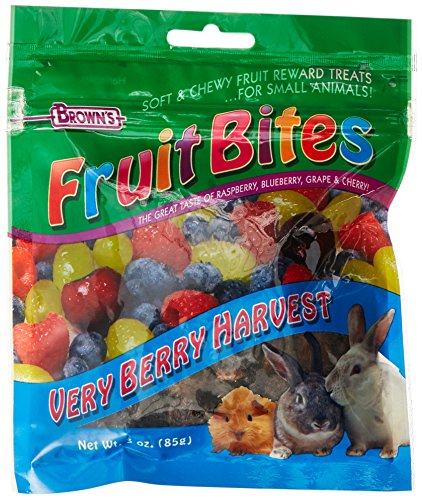 F.M. Brown'S Fruit Bites Verry Berry Harvest Small Animal Treat, 3-Ounce ()