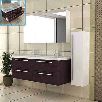 Badmobel Doppelbecken Waschbeckenunterschrank Spiegelschrank