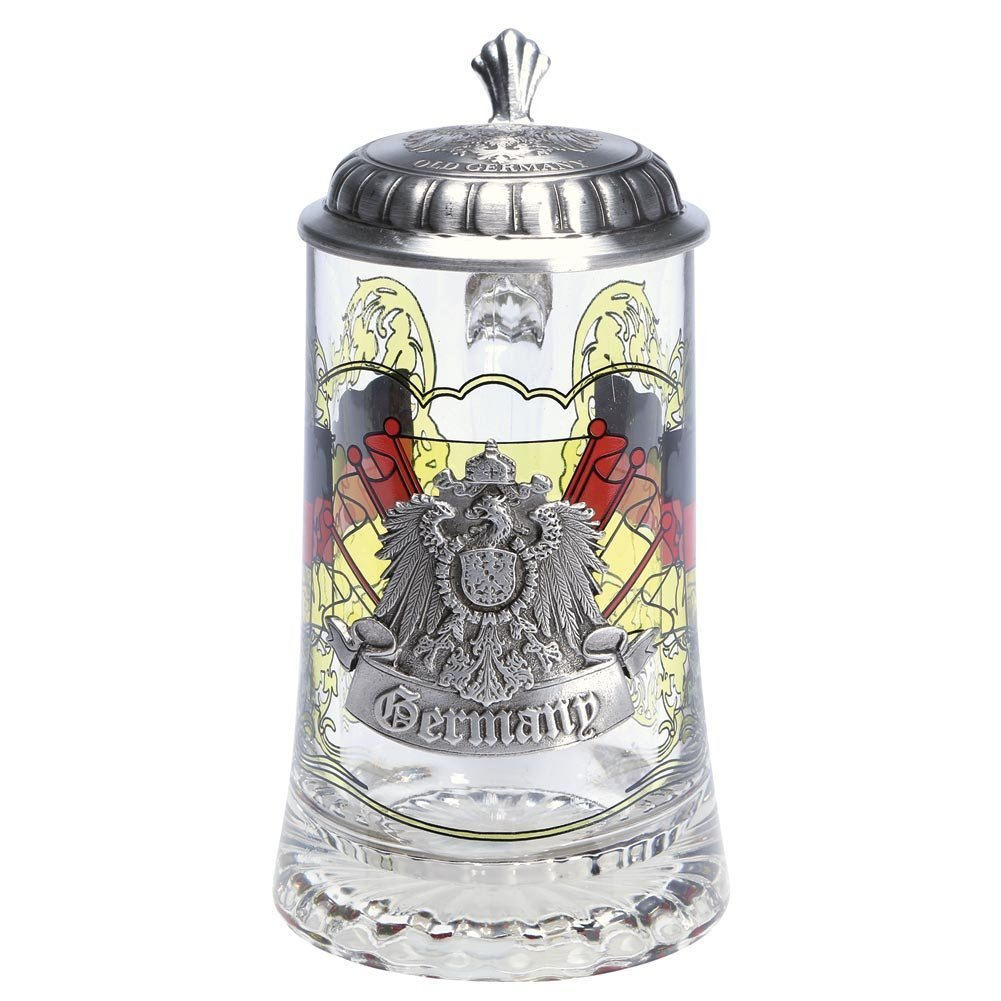 Germany Glass Stein with pewter lid by GermanStein (Image #1)