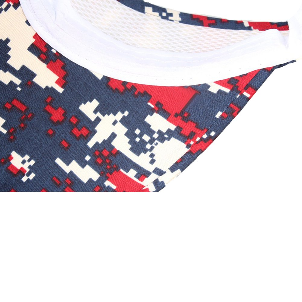 Opromo Digital Camouflage Military Visors Summer Outdoor Sports Sun Visor Hat 6CAP-BO0141/_BLACKCAMO