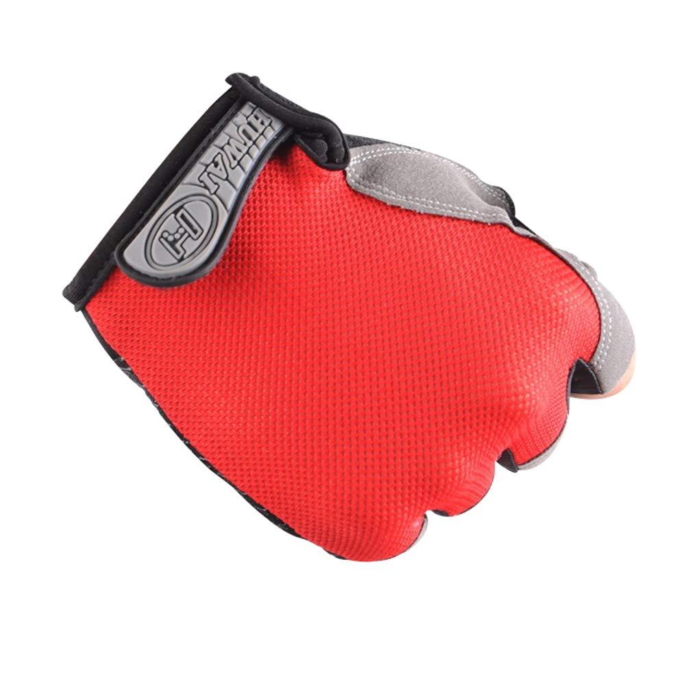 0Miaxudh Guantes de Malla Transpirable Protector Solar Antideslizante Unisex Guantes con Medio Dedo para Ciclismo al Aire Libre Fitness Pesca Ciclismo Escalada Caza