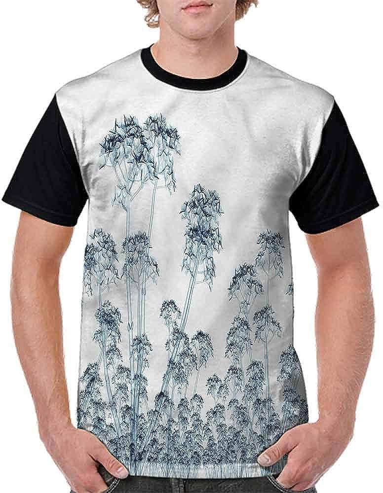 Round Neck T-Shirt,Traditional Greek Houses Fashion Personality Customization