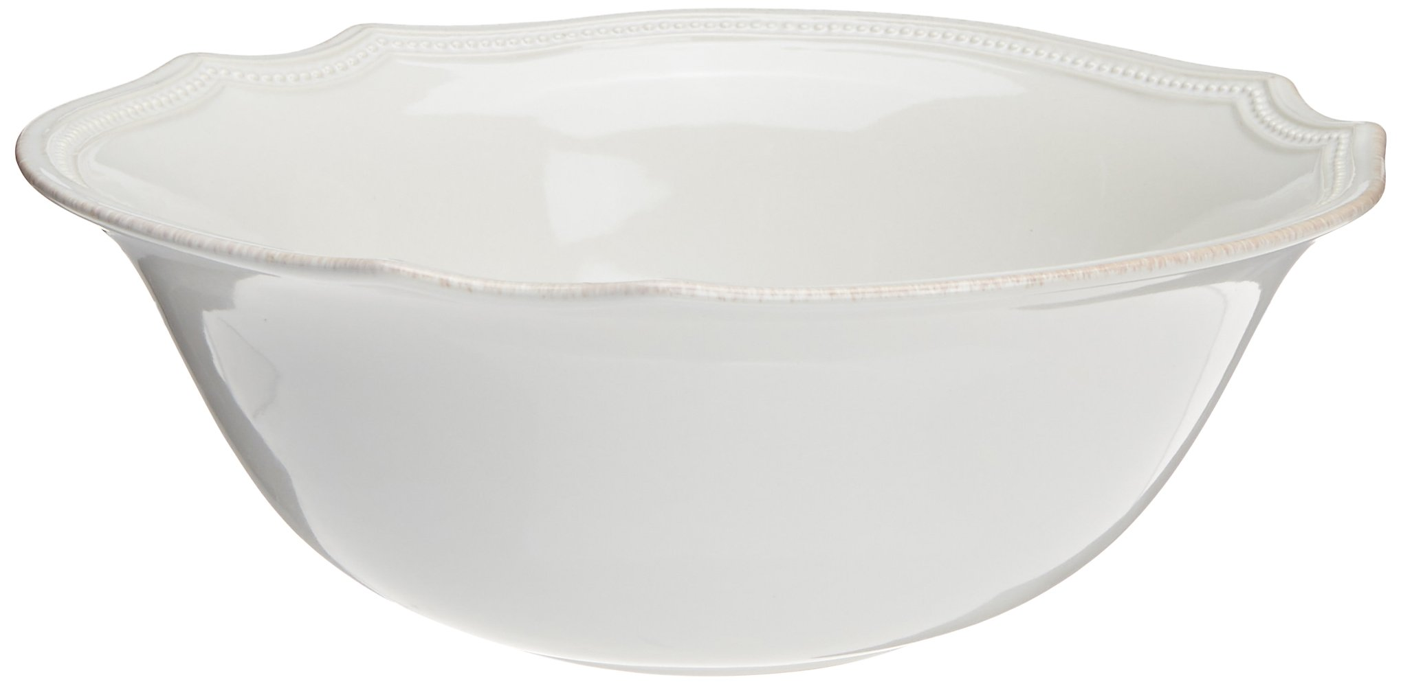 Lenox French Perle Bead Serving Bowl, 64-Ounce, White