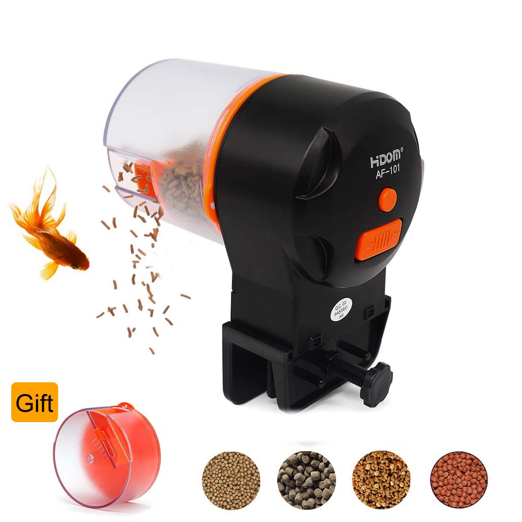 Lefunpets Automatic Fish Feeder, Aquarium Tank Timer Auto Feeder with 2 Food Dispensers for Aquarium or Fish Tank by Lefunpets