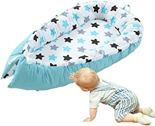 Baby Lounger/Nest/Bed, Volwco Infant Co-Sleeping Newborn Baby Bassinet Snuggle Bed Nest, 100% Cotton Breathable Soft Portable Crib Mattress for Bedroom Travel