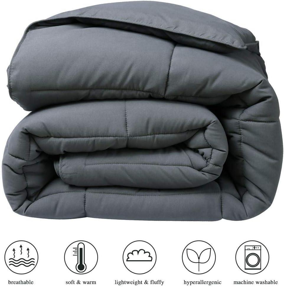 Down Alternative Comforter Duvet Insert Corner Ties,Fluffy Lightweight Warm All Season Soft Reversible Hotel Collection Navy, Full