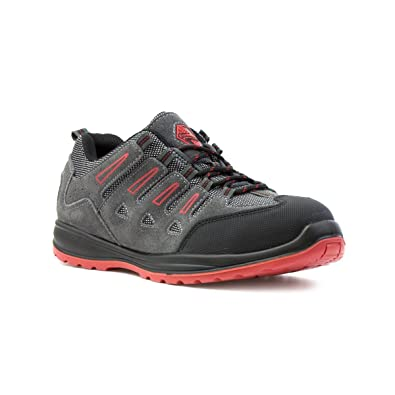 09cfc0f2fa5a Earth Works Safety - EarthWorks Mens Grey Lace Up Safety Shoe - Size 11 UK -