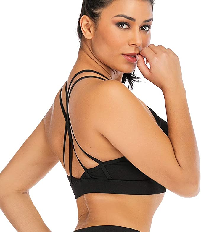 Komfort Push-Up Sport-BH Padded mit Racerback Yoga Fitness Soft Bustier S M L XL