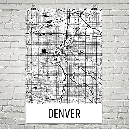 Amazon.com: Denver Poster, Denver Art Print, Denver Wall Art, Denver ...