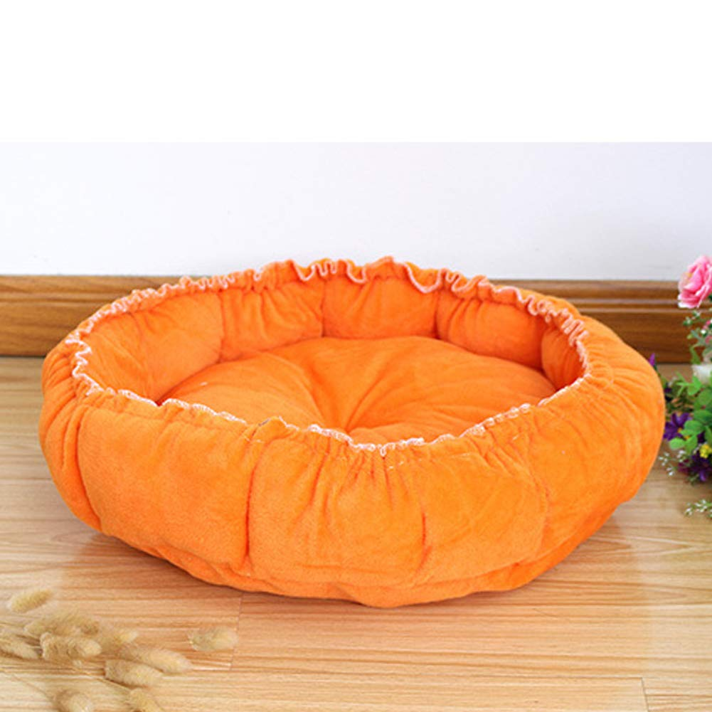 orange Large orange Large Pet Nest Drawstring Pumpkin Nest Dual-Use Pad Teddy Dog Kennel Pad Dual-Use Puppy,orange,L