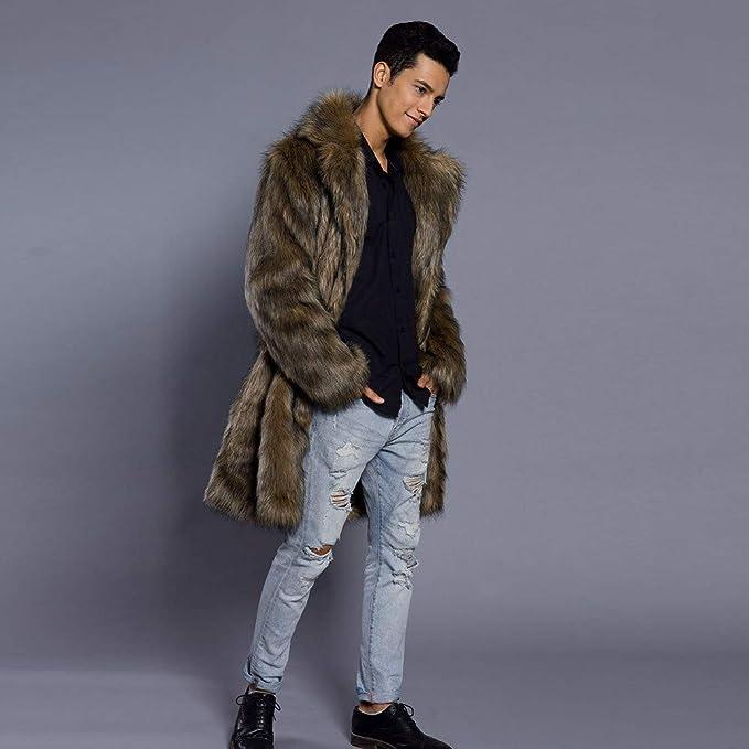 cárdigan Chaqueta de Invierno para Hombre Abrigo Grueso Chaquetas de Piel sintética Caliente Suéter Sudadera Tops Camisa Abrigo Ropa Outwear Invierno: ...