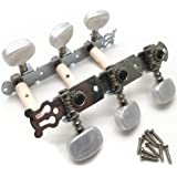 Timiy 2Pcs Adjustable Classical Guitar Tuning Pegs Set Classic Guitar Tuners Replacement