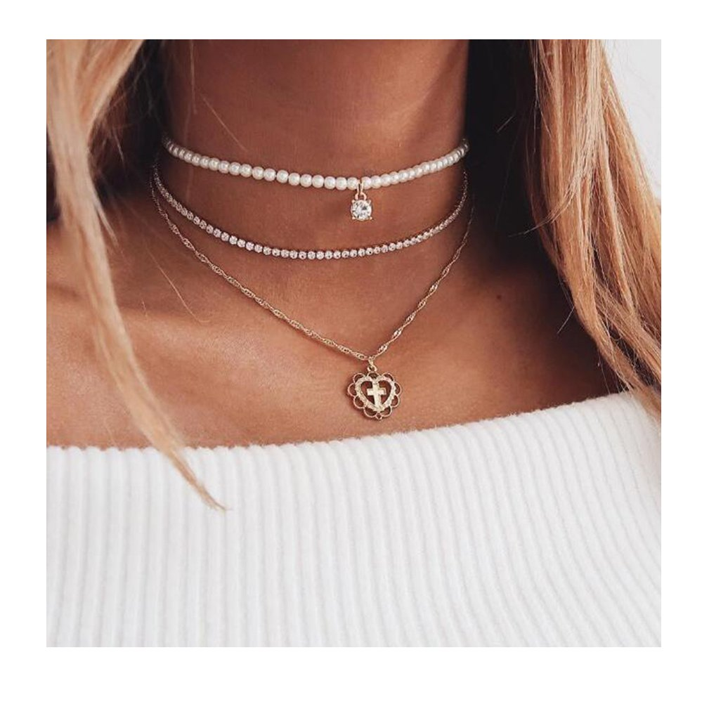 SONGLIN multilayer handmade pearl choker necklace gifts for women girl jewelry