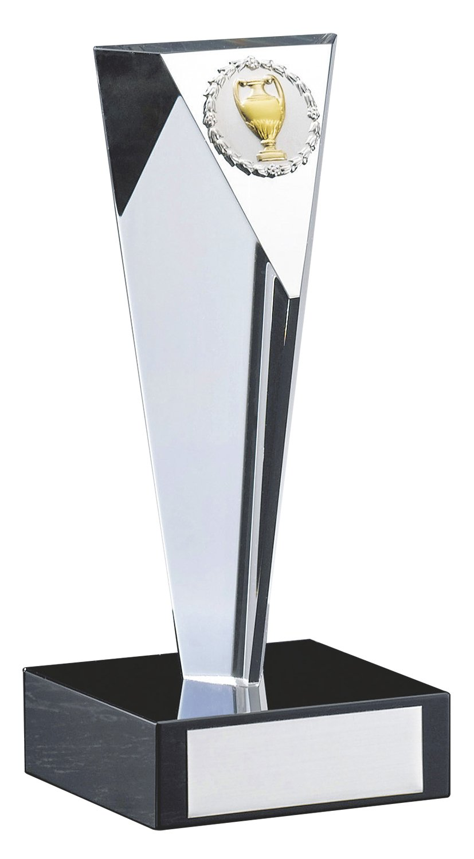サンレオ クリスタルトロフィー 165×75mm ガラス製 YC-2976 B   B07CKWF4YN