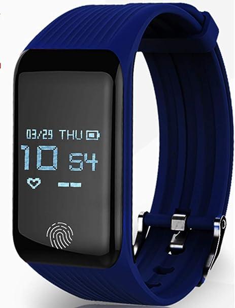 Shoubiaoo Reloj Deportivo Inteligente Impermeable con Contador De Pasos Vibración Despertador Multifunción A