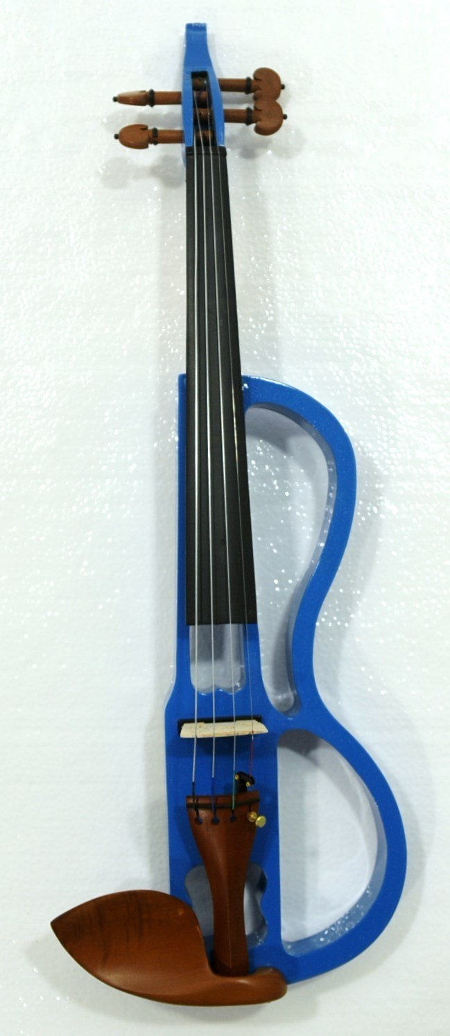Electric Violin w/ case, bow, headphone, cable, rosin & battery by Unknown