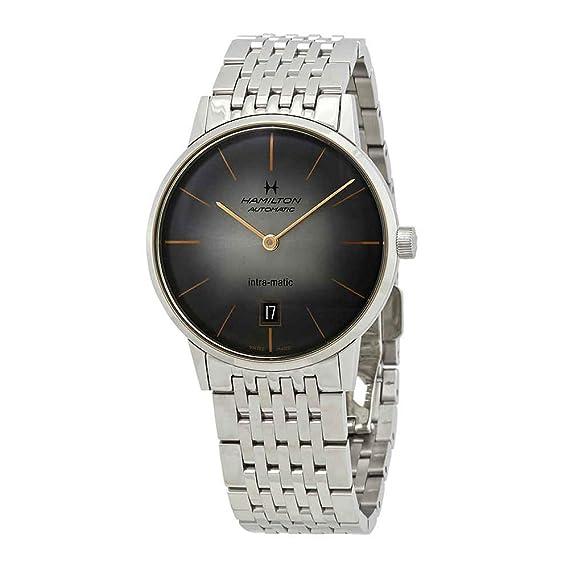 Hamilton Intra-Matic H38455181 - Reloj automático para Hombre, Esfera Negra: Amazon.es: Relojes
