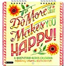 Orange Circle Studio 2017 Studio Redux Mini Wall Calendar, Do More of What Makes You Happy!
