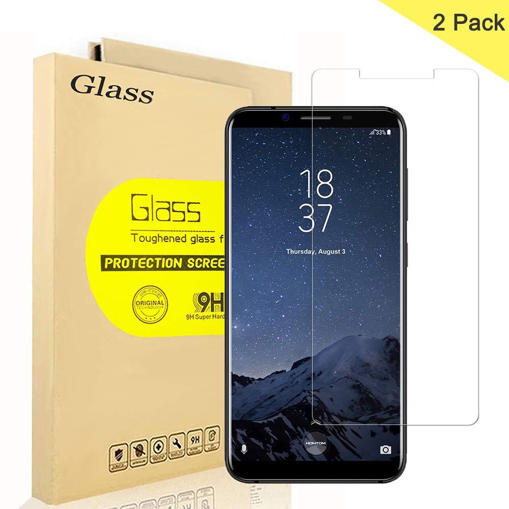 2 Unidades] HOMTOM S8 Protector de Pantalla, AOLANDER Cristal Vidrio Templado Premium [9H Dureza][Alta Definicion 0.3mm] [Anti Arañazos] Tempered Glass Para HOMTOM S8: Amazon.es: Electrónica