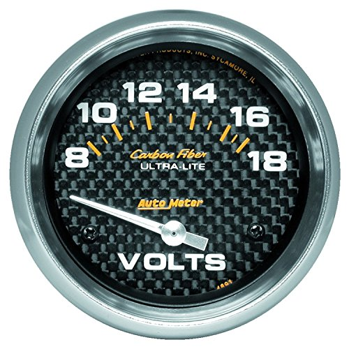 Auto Meter 4891 Carbon Fiber Electric Voltmeter Gauge ()