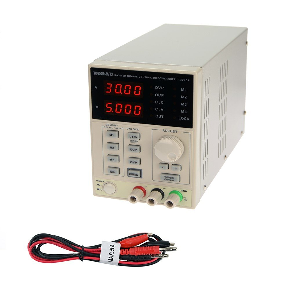 Korad Ka3005d Precision Variable Adjustable 30v 5a Dc An Add On Current Limiter For Your Psu Linear Power Supply Digital Regulated Lab Grade Home Improvement