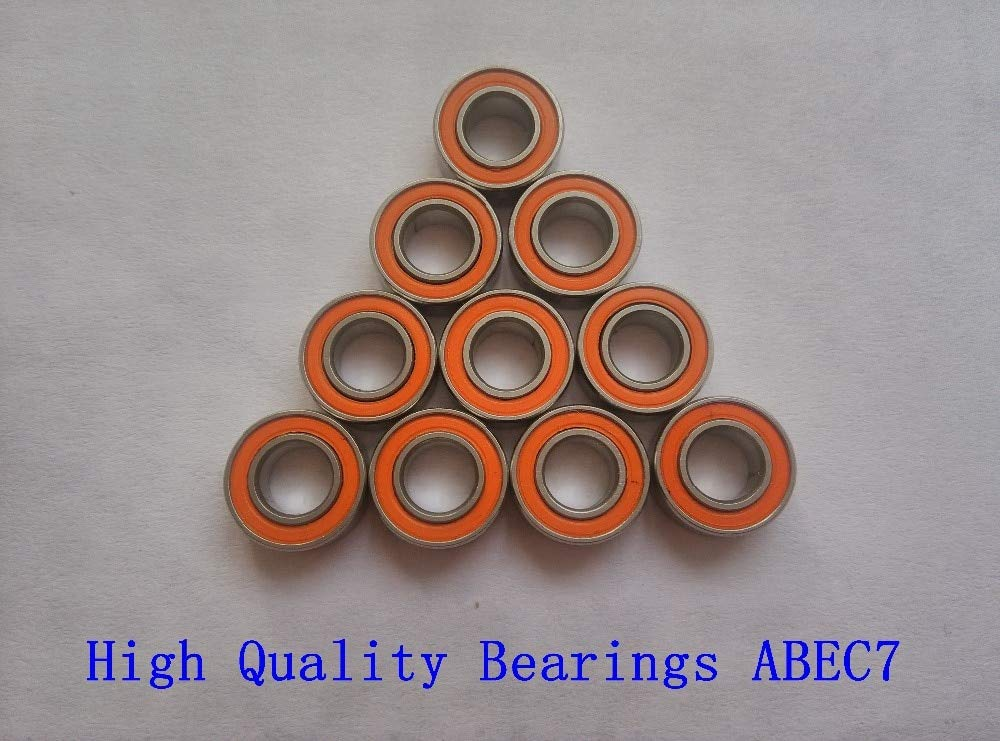 Ochoos 10PCS 3x7x3mm S683 2OS CB ABEC7 Stainless Steel Hybrid Ceramic Ball Bearing Fishing Vessel Bearing