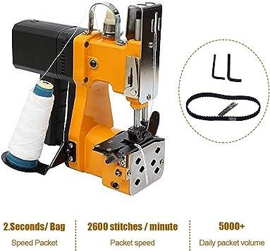 HUKOER Máquina de coser portátil Máquina de coser más cercana Bolsa de embalaje eléctrica Sellado de costura para bolsa de plástico de papel de arroz saco de piel de serpiente (220V): Amazon.es: