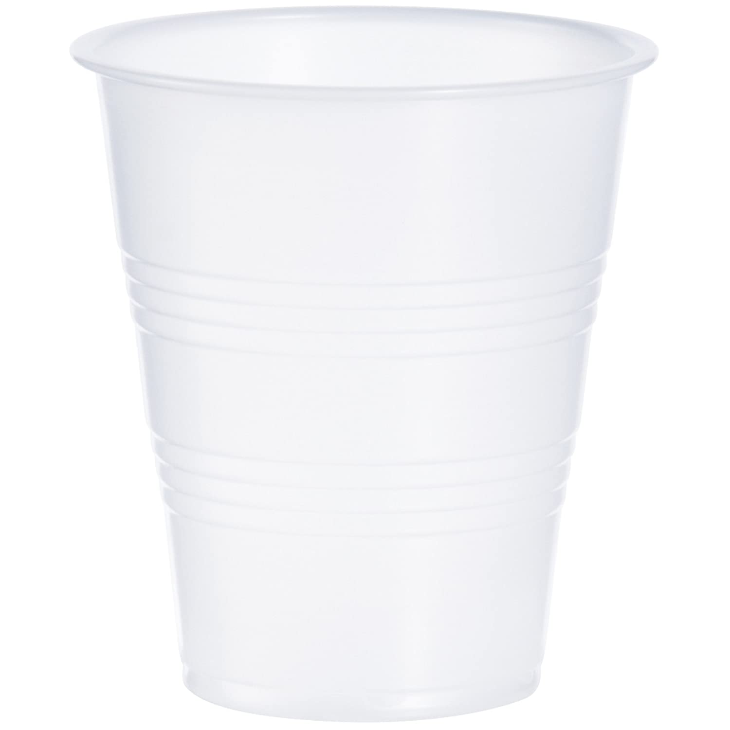 Dart Y7 7 oz Trans Ribbed Wall PS Cup (Case of 2500)