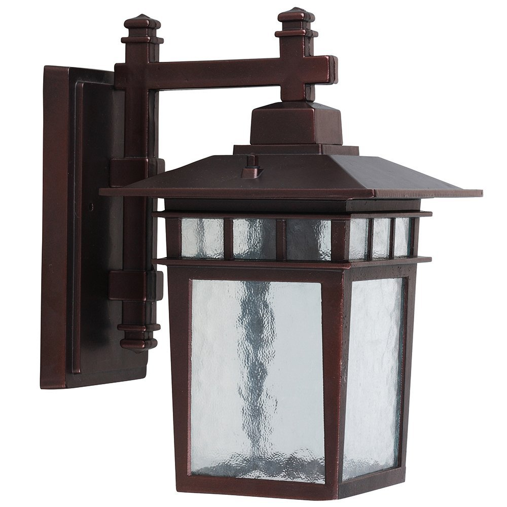 Y Decor EL727SOR Modern, Transitional, Traditional Oil Rubbed Bronze Exterior Outdoor Light Fixture with Clear Water Glass Small, Oil Rubbed Bronze Brown