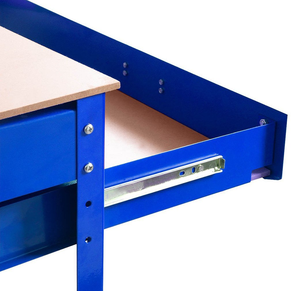 Steel Frame Workbenches Tool Storage Workshop Table Tools Table by BestMassage (Image #5)