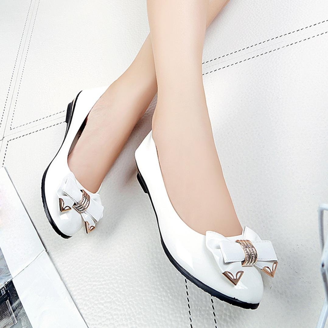 Fashion Ladies Casual Pointed Toe Slip-On Shoes Inkach Womens Flat Shoes Flat Heels Shoes