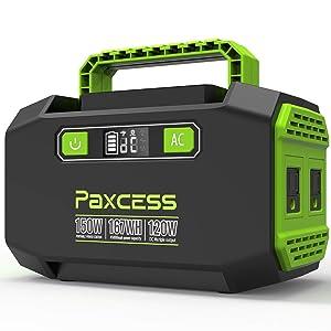 Paxcess P-26 167Wh AC出力150W ポータブル電源
