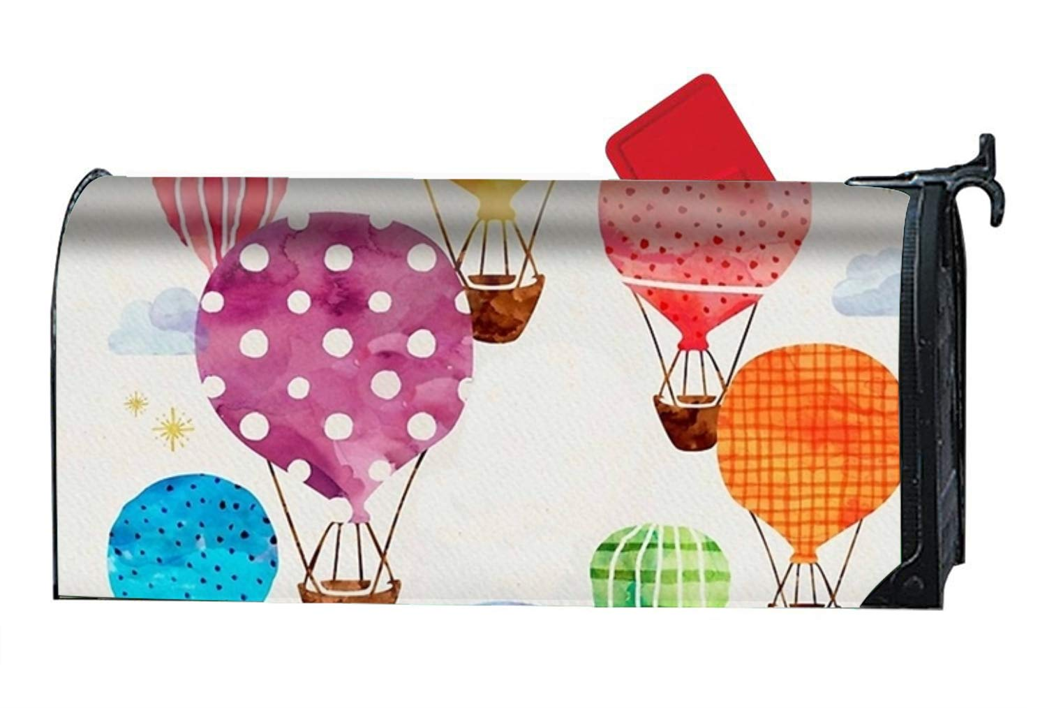 FANMIL Hot Air Balloon Magnetic Mailbox Cover