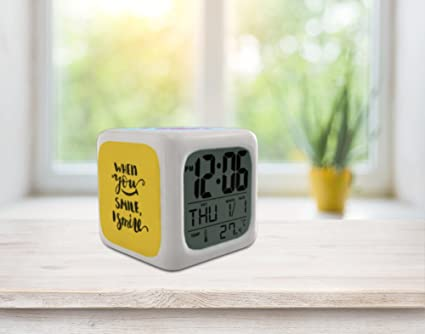 Bedroom Alarm Clock for Heavy Sleepers, Kids and Teen, Boys or Girls. Cute  and Cool Bedside Digital Display Battery Operated Small Clocks for Kid ...