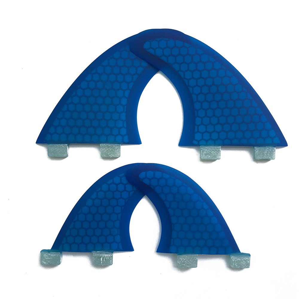 UPSURF FCS Surfboard Fin Fiberglass+Honeycomb Quad Blue Fin G3+GL