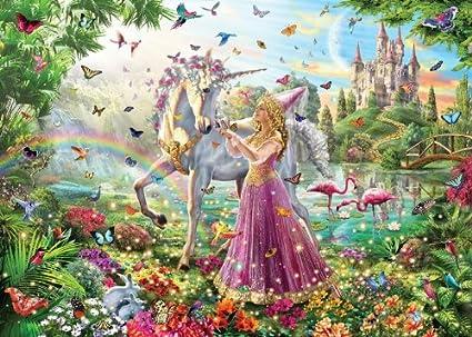 Buy White Mountain Puzzles 991 Princess Unicorn, 100 Piece