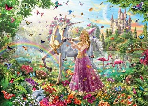 White Mountain Puzzles 991 Princess Unicorn, 100 Piece Jigsaw Puzzle by White Mountain Puzzles