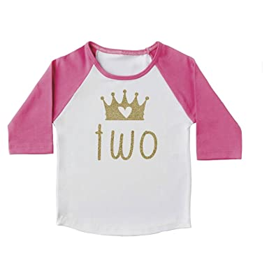 45445686 Image Unavailable. Image not available for. Color: 2nd Birthday Girl Outfit,  2 Year Old Birthday Shirt ...