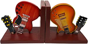 Trademark Innovations Guitar Gift Music Decorative Bookends