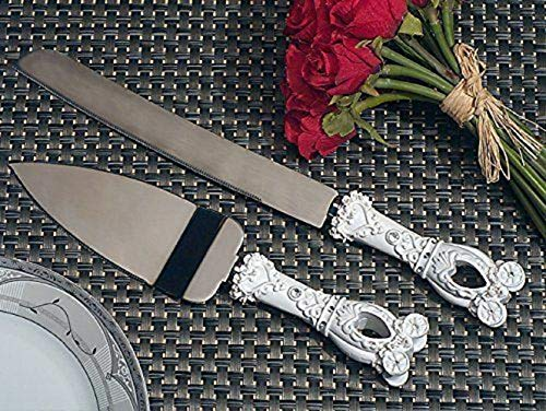 Cake Knife and Server Set Enchanted Coach Fairy Tale Wedding Cake Serving Set Party Supplies tokocanna