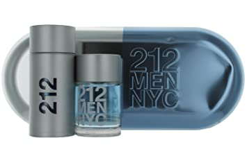 4a22723a1 Amazon.com : Carolina Herrera 212 for Men Gift Set (Eau de Toilette Spray  3.4 Oz and Aftershave 3.4 Oz) : Beauty