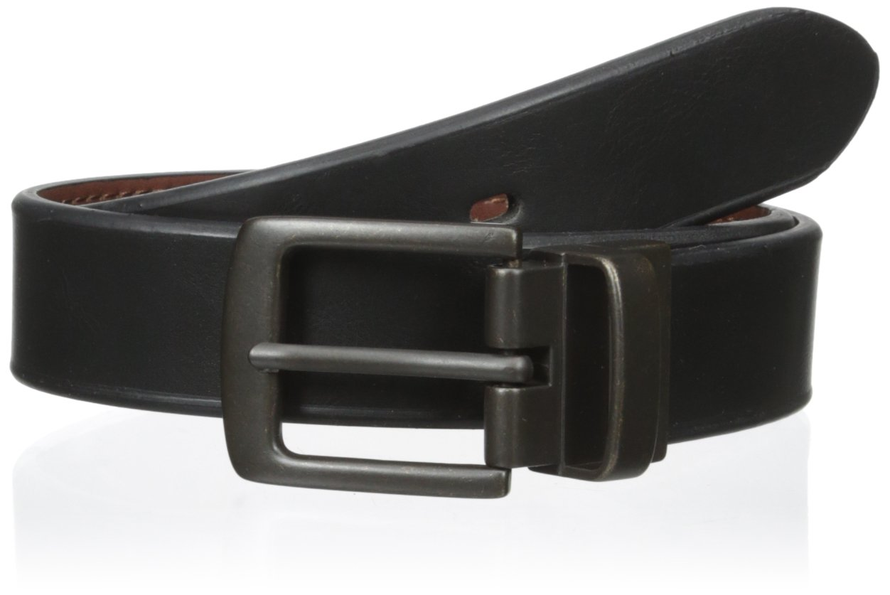 Levi's Men's 30mm Reversible Beveled Edge Belt,Black/Brown,Medium/26-28 Inches