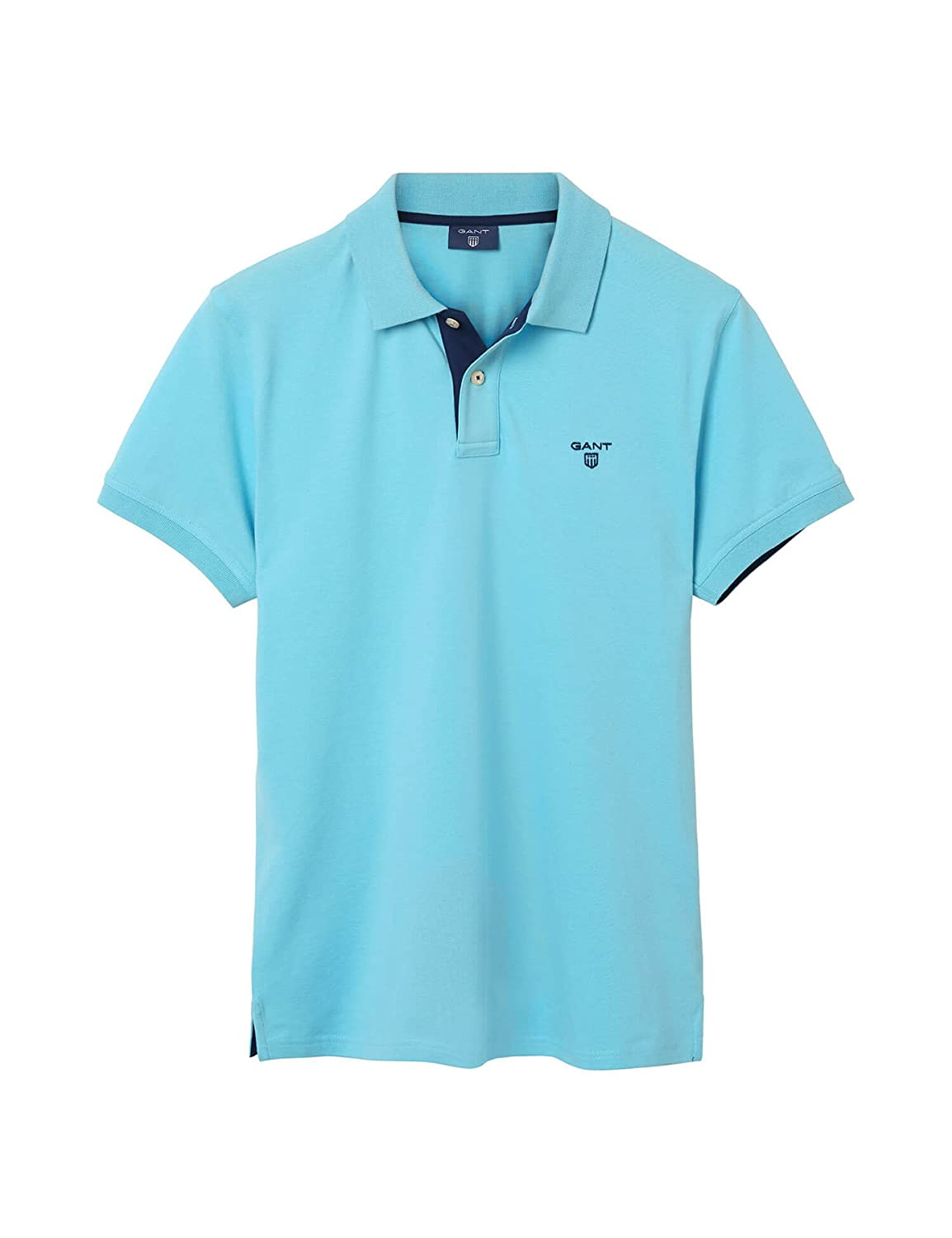 Gant MenS MenS Light Blue Polo T-Shirt In Slim Fit In Size M ...