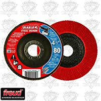 Diablo DCX045080N01F 4-1/2 in. 80-Grit Steel Demon Grinding and Polishing Flap Disc