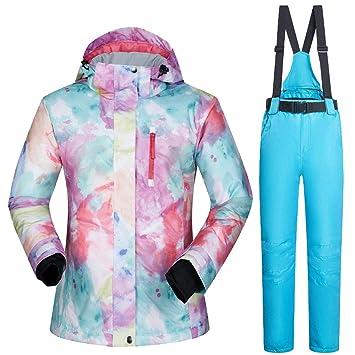 TOOGOU Traje de esquí para Mujeres Ropa de Snowboard Impermeable Chaquetas de esquí + Pantalones: Amazon.es: Deportes y aire libre