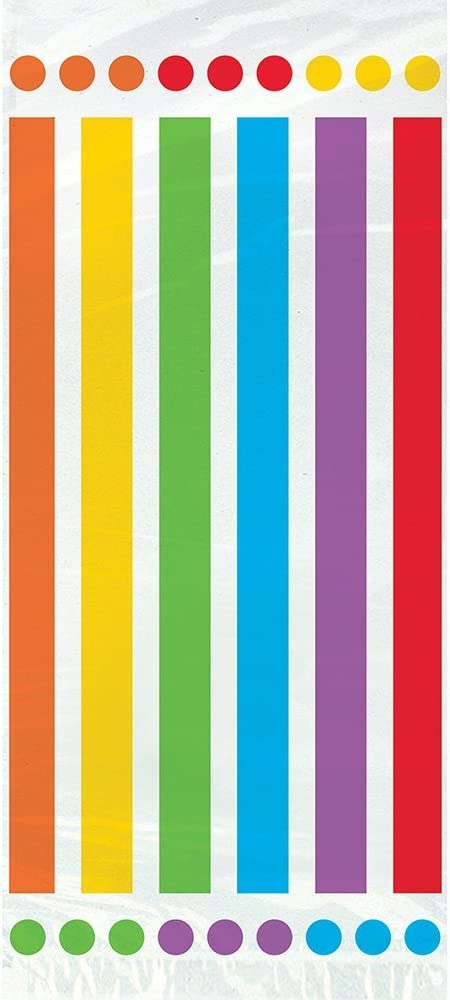 Rainbow birthday party Rainbow party favor bags Rainbow party bags 10- Rainbow Party second birthday themes first birthday 5x7