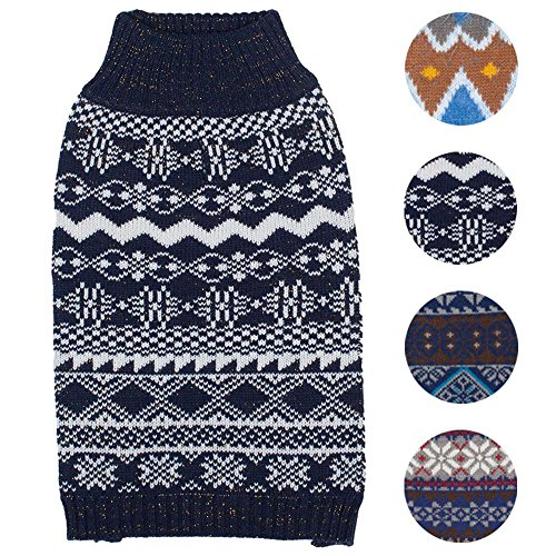 Blueberry 4 Patterns Vintage Fair Isle Designer Yorkie Sweater