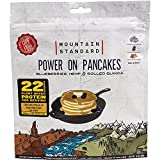 Mountain Standard High Protein, Power On Pancakes with Blueberries, Hemp & Rolled Oats, Two-Serving Breakfast, 9 Ounces